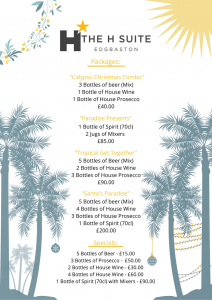 Caribbean Christmas Drinks menu